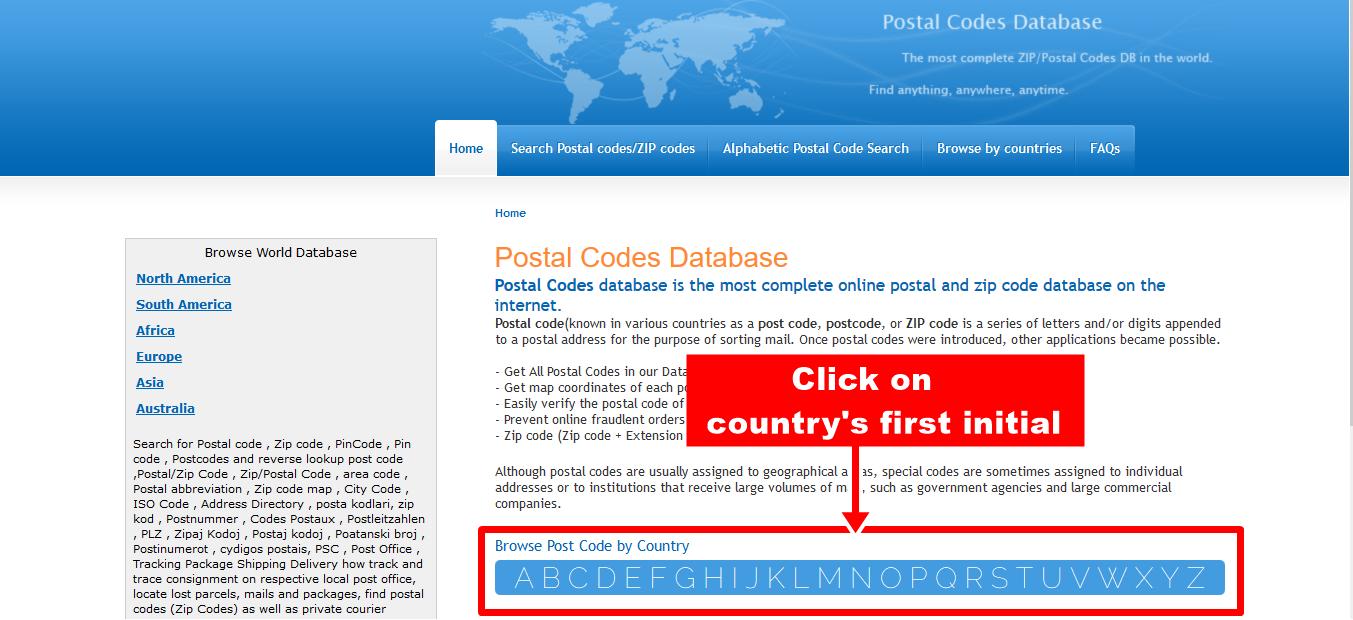 Info Geonames Ant Home Postal Codes