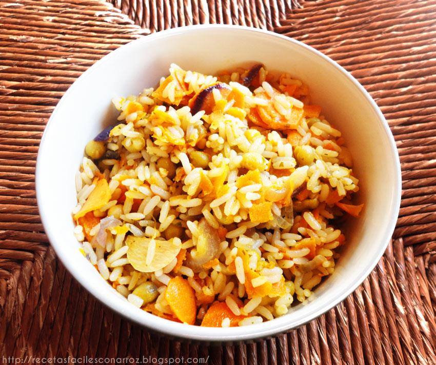 arroz vegetariano vegano