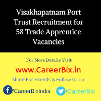 Visakhapatnam Port Trust Recruitment for 58 Trade Apprentice Vacancies