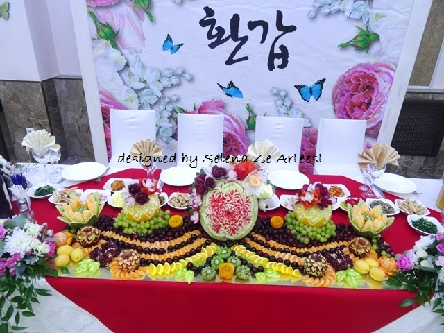 fruit carving arrangement 2018