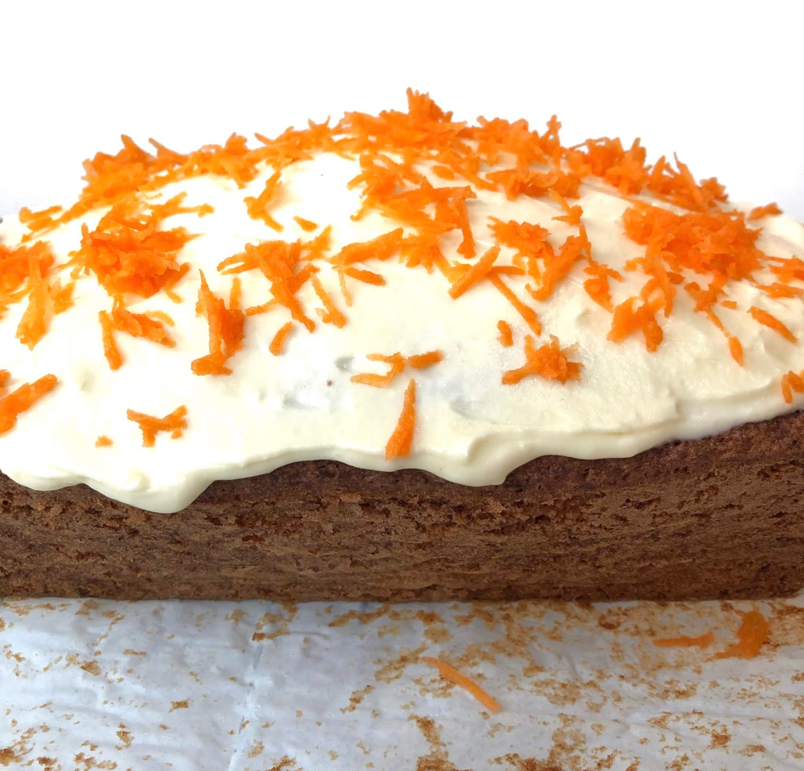 carrot cake spread with smooth cream cheese frosting