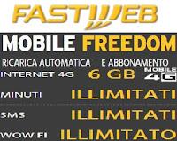 Costo e dettagli dell'offerta MobileFreedom di Fastweb