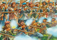 Illustration of Montrose's Irish brigade