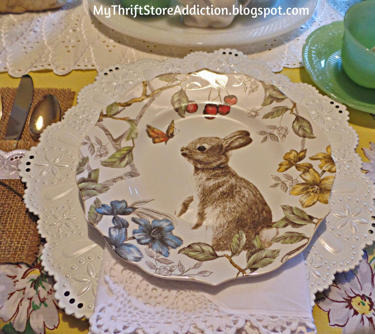 Pier One bunny dishes