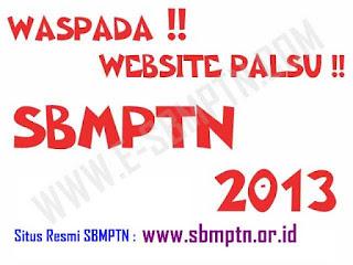 Pendaftaran Seleksi Bersama Masuk Perguruan Tinggi Negeri  Pendaftaran SBMPTN Dimulai, Waspadai Website Palsu !!
