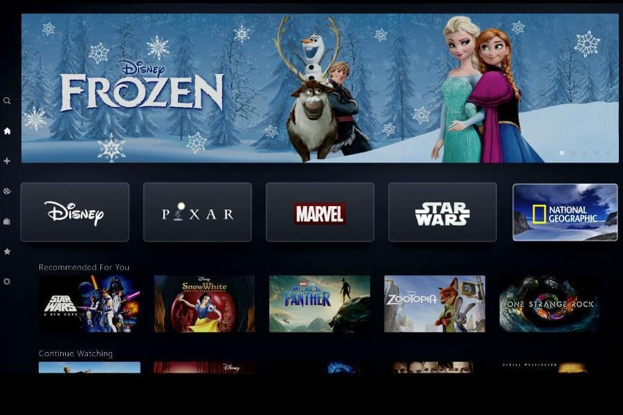 Interface Disney+ yang mirip dengan Netflix