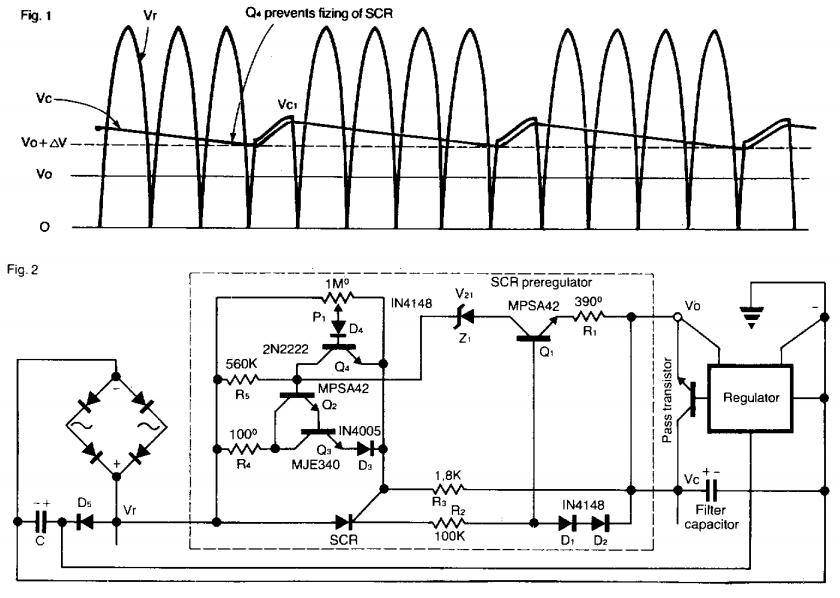 preregulator for power supply circuit diagram