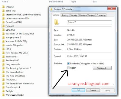 Cara Nye Menyembunyikan Dan Menampilkan Dokumen File
