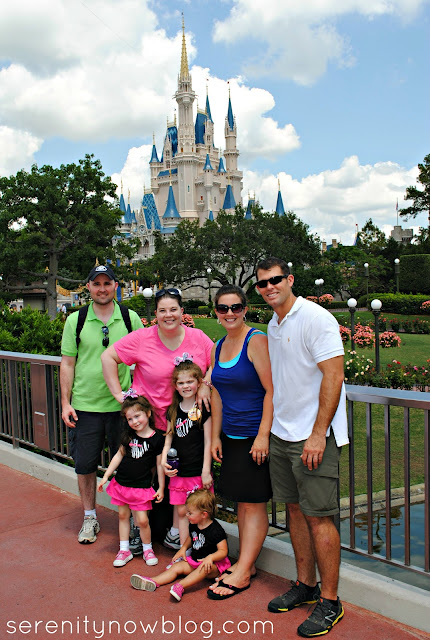 Family Picture at Magic Kingdom Castle, Serenity Now blog