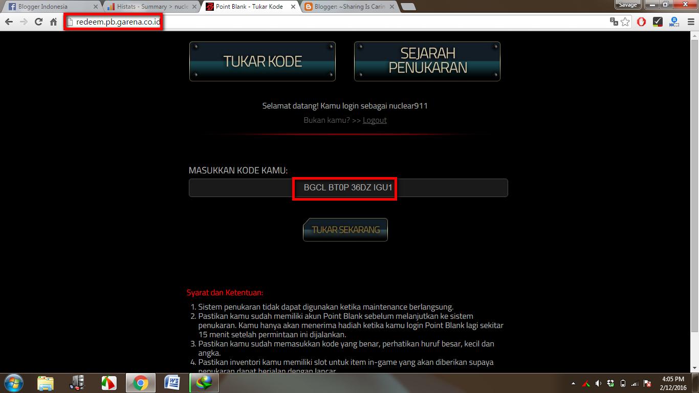 Cara Mendapatkan Senjata Gratis Di Point Blank Garena Indonesia 500000 Selamat Anda Sudah Kriss Sv Grs Selama 7 Hari Secara Silahkan Agan Login Ke Akun Pb Lalu Nikmati Gamenya Dengan Room