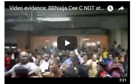BBNaija: Cee C Was NOT Attacked At Lagos Airport. See Video Evidence