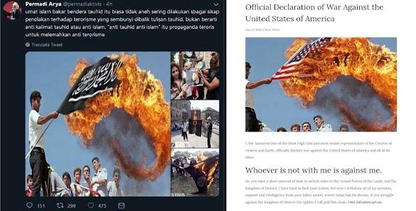 Posting Foto Hoax Pembakaran Bendera Tauhid, Abu Janda Disikat Warganet