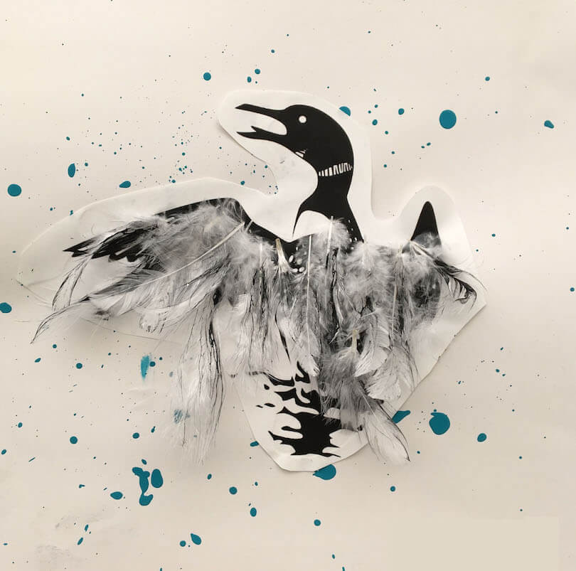 Spring Art Gallery: Canada Geese Art by a 3rd Grade Class