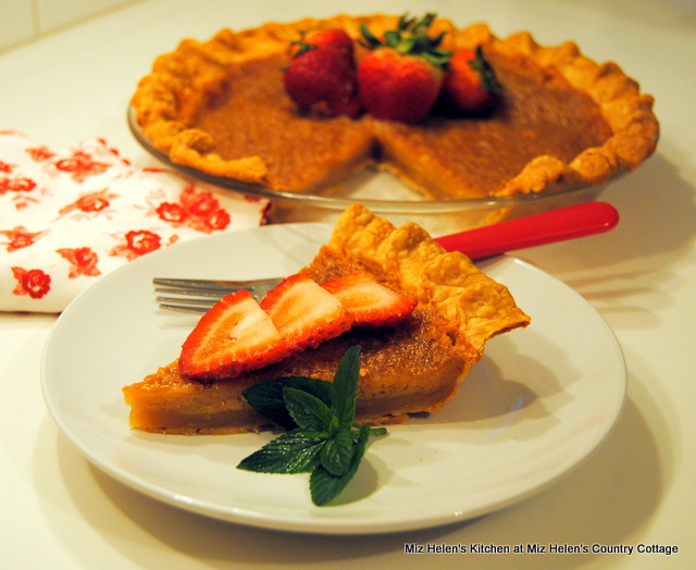 Brown Butter Custard Pie at Miz Helen's Country Cottage