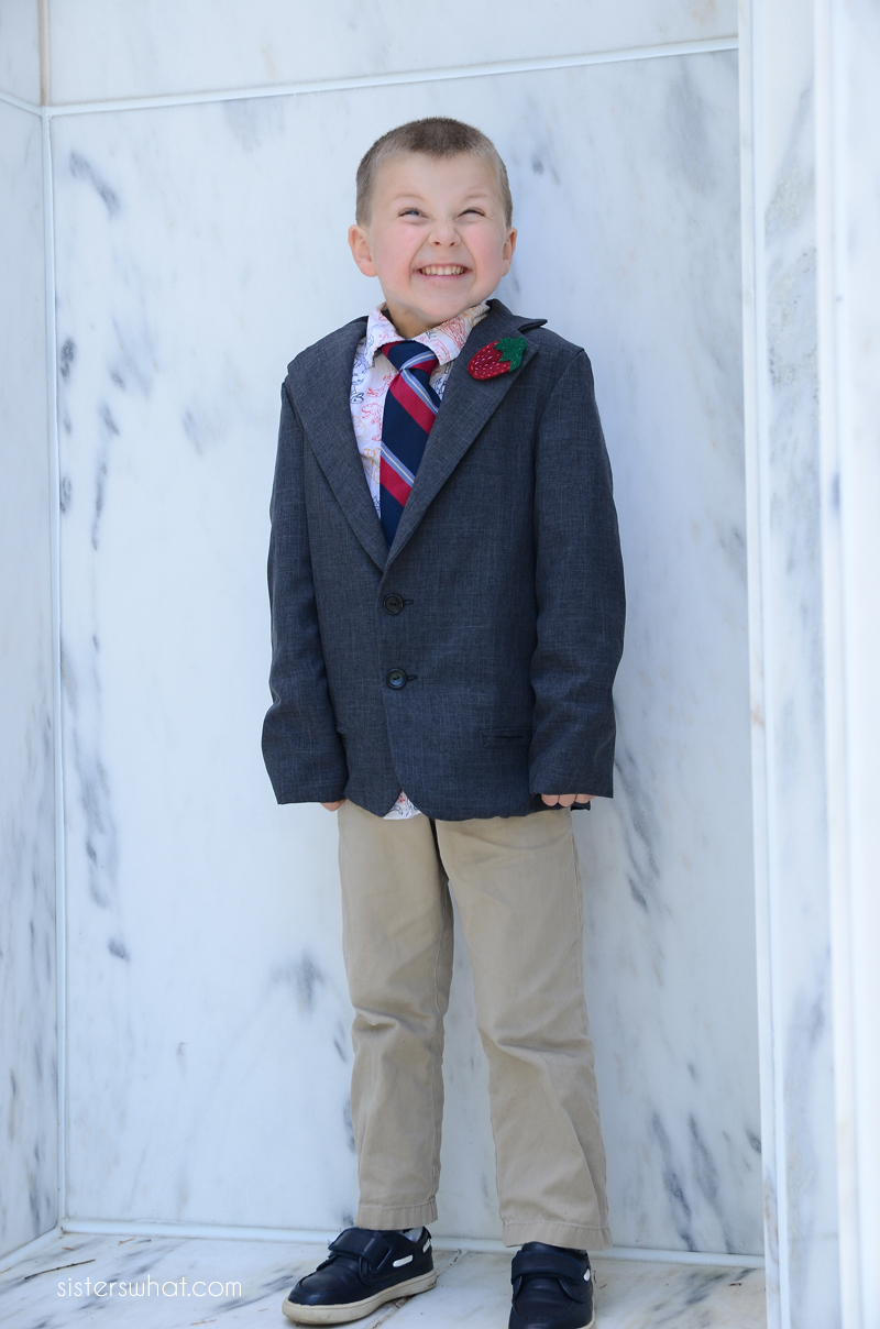 basic blazer little boy jacket