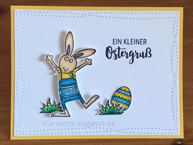 """""""Honey """"Bunny"""" Sweet Dixie, """"Ein kleiner Ostergruß"""" aus """"Hoppy Easter"""" Klartext Stempel"""