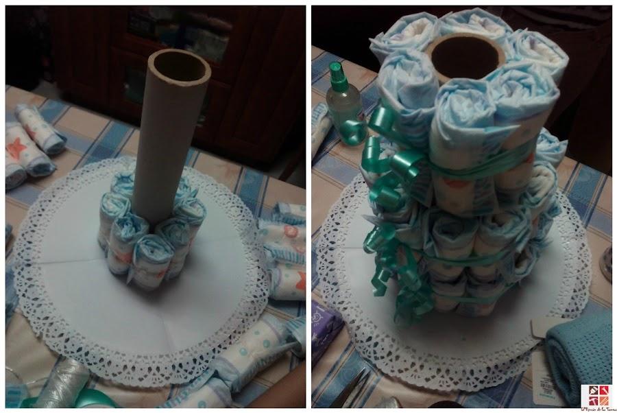 como hacer una tarta de pañales