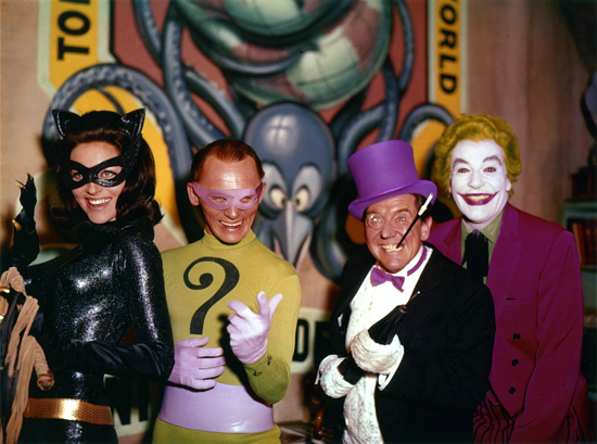 Batman movie 1966, the villains