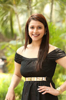 Mannara Chopra in Short Off Shoulder Black Dress ~  Exclusive 066.JPG