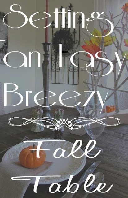 Quick and Easy Fall Tablescape