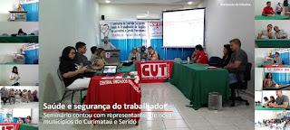Saúde e segurança do trabalhador são temas de discussão em seminário em Nova Palmeira