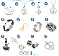 Logo Partecipa gratis e vinci un gioiello Gioielli Eshop con il simbolo della Pace