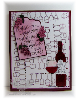 CraftyColonel Donna Nuce for Cards in Envy Challenge, StampinUp Half Full
