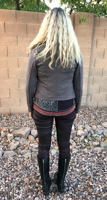 Edyson Maisha Ponte and Faux Leather Jacket Back - Stitch Fix #28 Review - December 2016