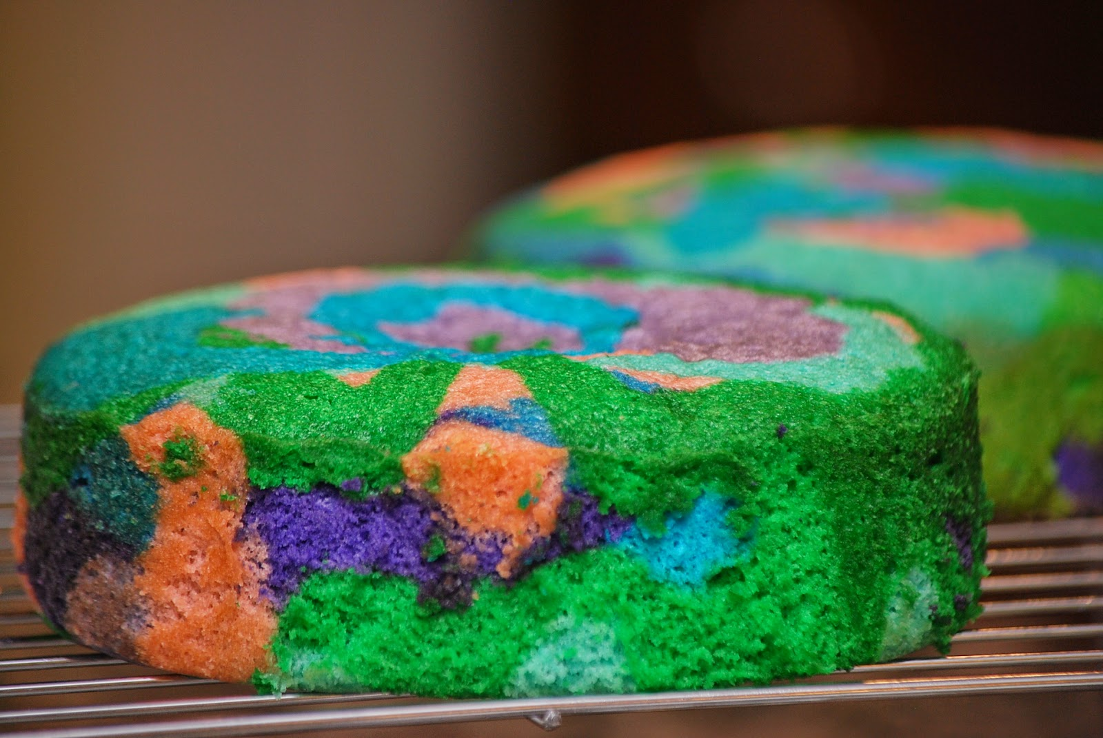 My Story In Recipes Tie Dye Cake