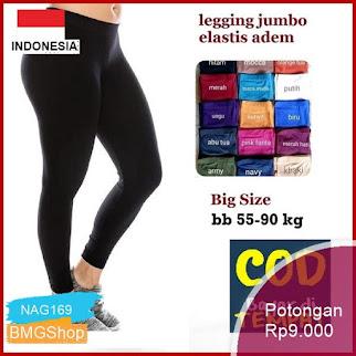 NAG169 Celana Legiing Legging Jumbo Panjang Leggings Lejing Murah Bmgshop