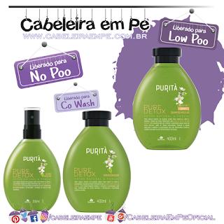 Shampoo (Low Poo), Condicionador e Fluido Micelar (Liberados para No Poo) - Purità