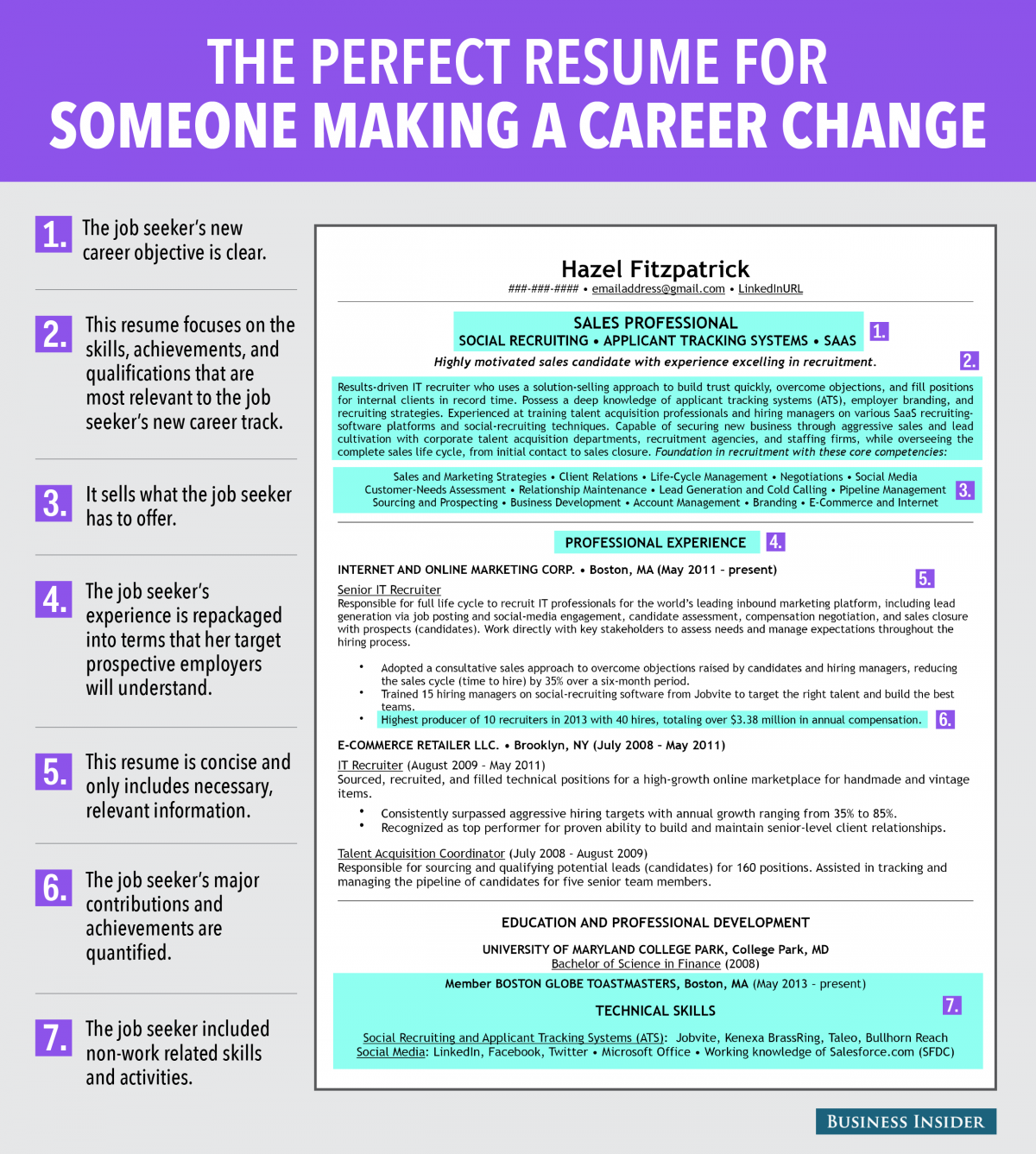career change resume templates and samples