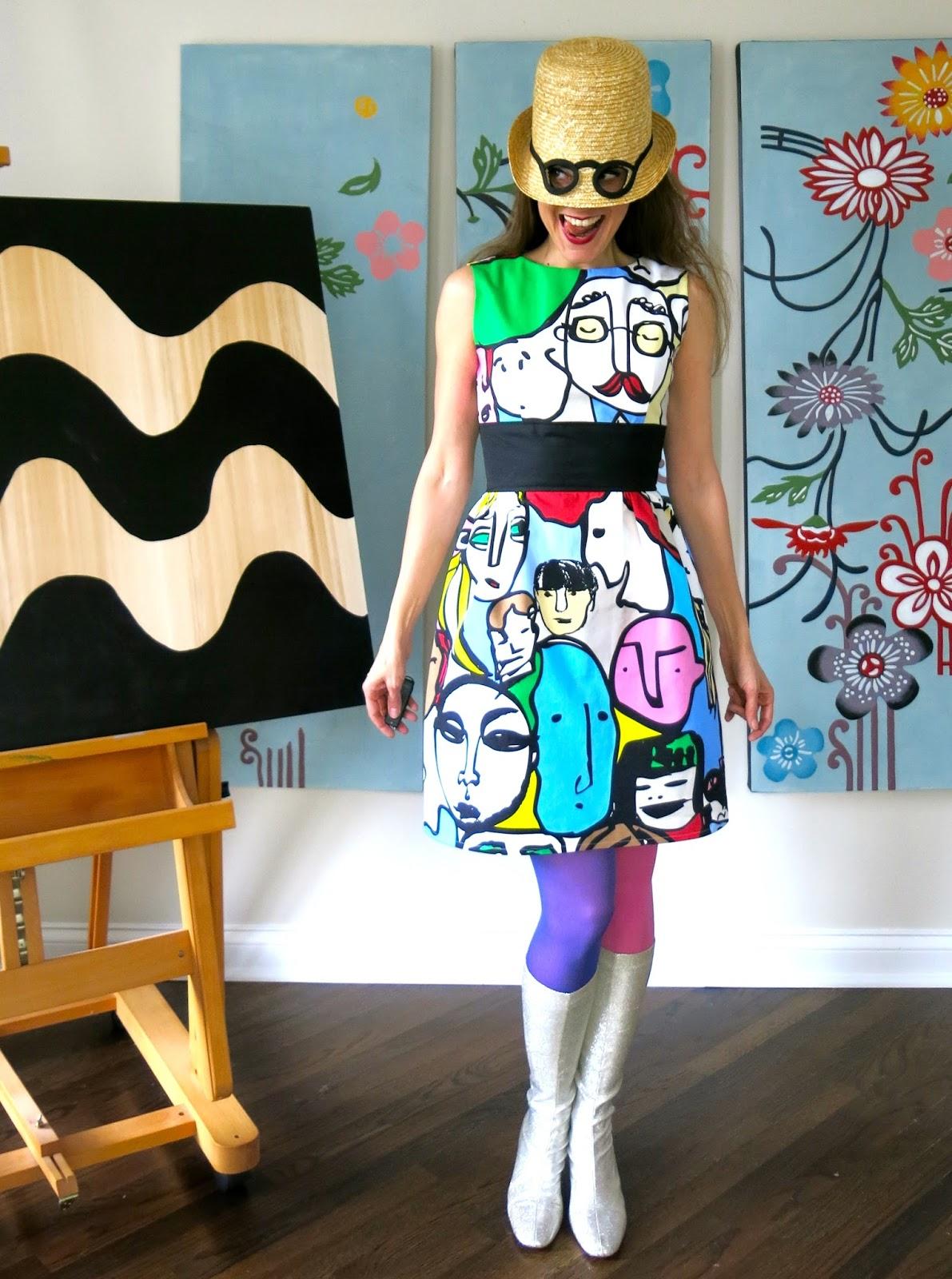 Cassie Stephens Diy The Ikea Fabric Portrait Dress