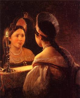 Подборка живописи «Женщина перед зеркалом»