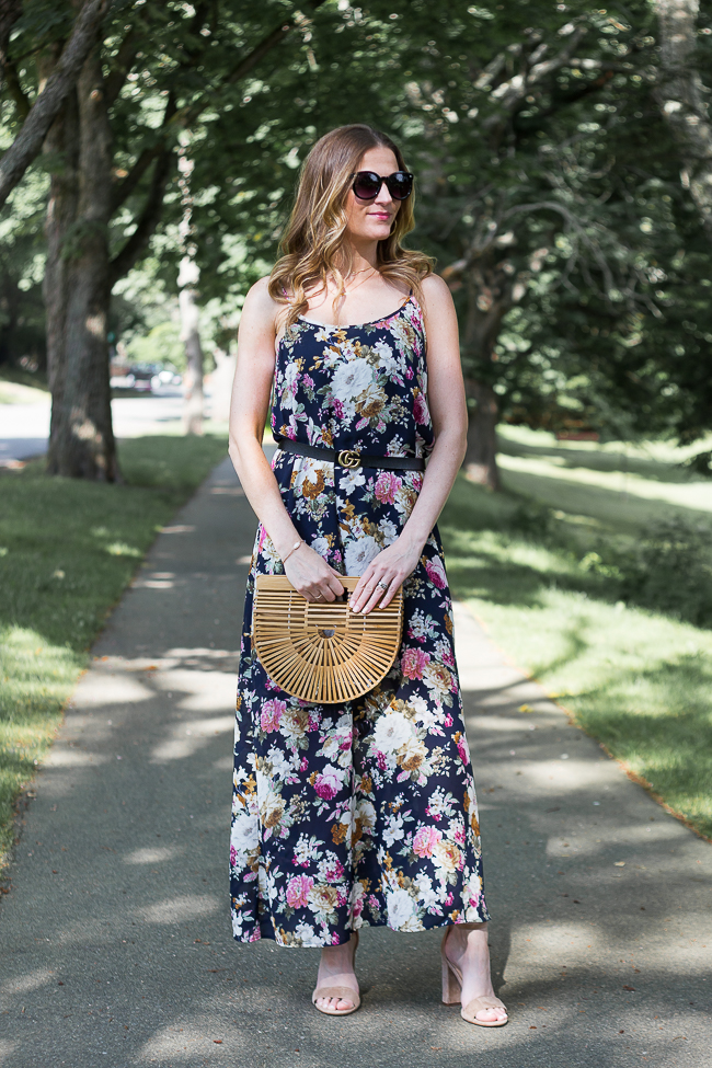 How to style a floral maxi dress #summerstyle