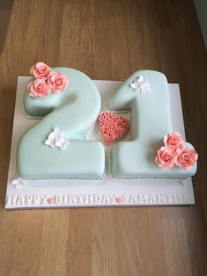 Modelo de bolo para 21 anos