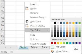 Gambar ubah warna worksheet