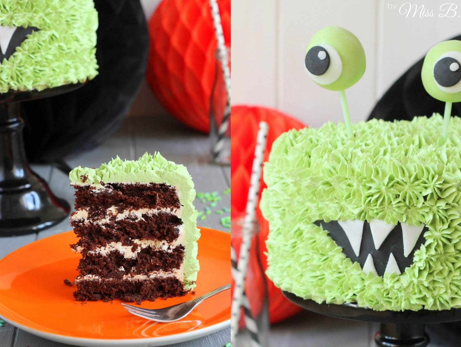 Miss Blueberrymuffins Kitchen Süße Halloween Monster Torte Mit