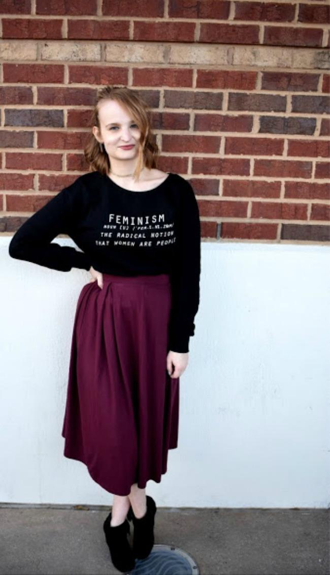 Midi Skirt & Sweatshirt