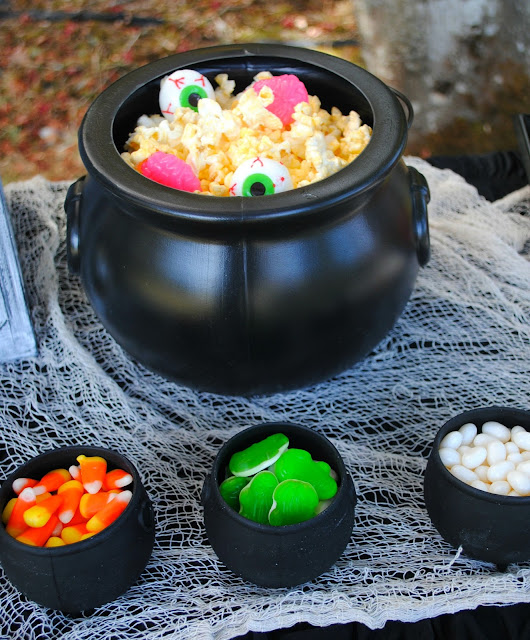Halloween popcorn bar