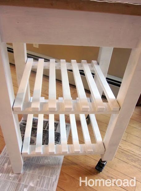 White painted Ikea cart