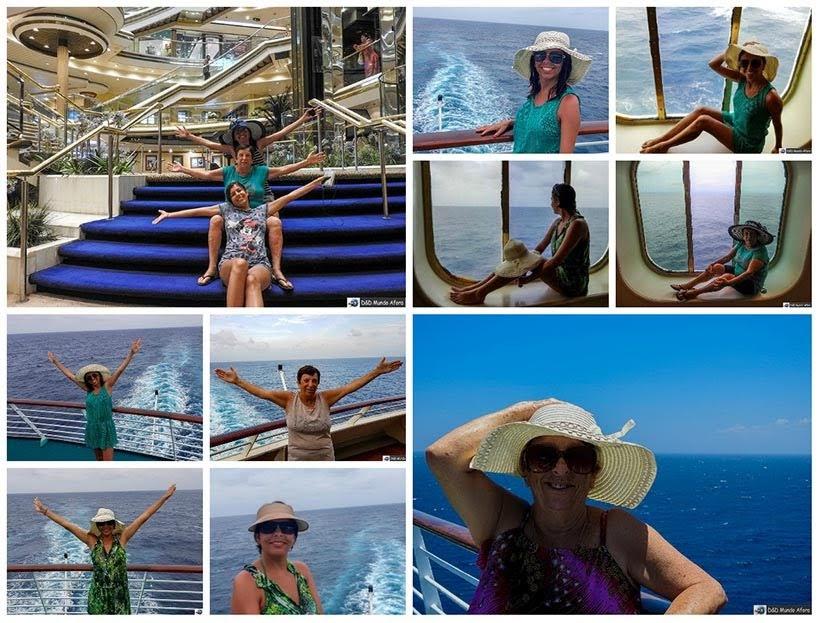 Sessão fotográfica no navio - Diário de Bordo: cruzeiro pelo Caribe