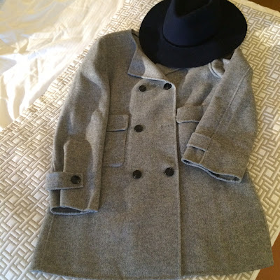 My Midlife Fashion, Zara, Trilby, Handmade coat