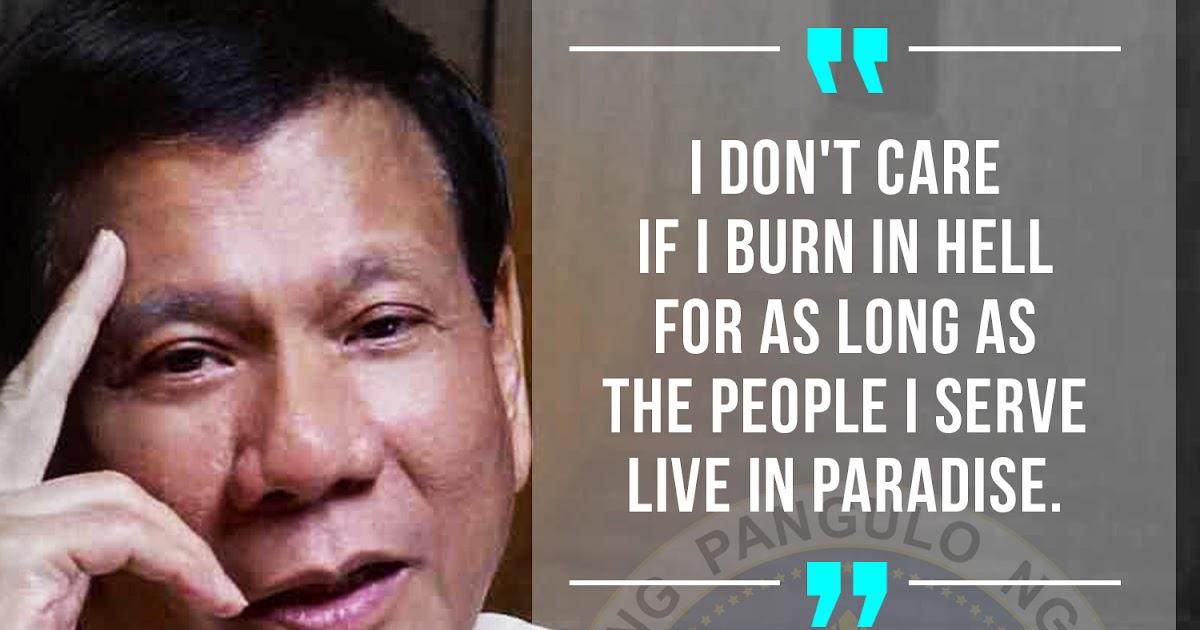 President Rody Duterte Most Quotable Quotes Boy Banat