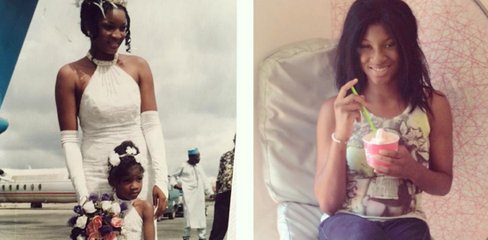 Omotola  jolade ekeinde praises her first little girl as she turns 19 today