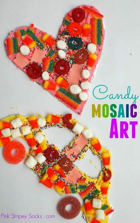 kid Art- Make candy Mosaic craft