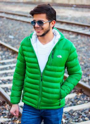 Şişme mont erkek yeşil