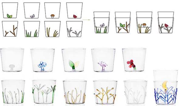 bicchieri moderni, design