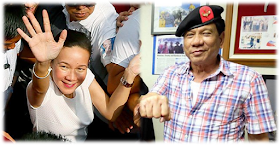 Mayor Rodrigo Duterte and Sen. Grace Poe are statistically tied at the top spot in latest Pulse Asia poll