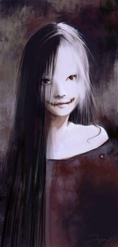 Ania Mitura DalisaAnja deviantart ilustrações fantasia sombria Horror